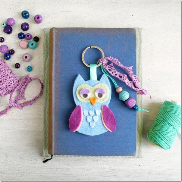 handmade-owl-felt-keychain-key-ring-gift-idea-sizzix