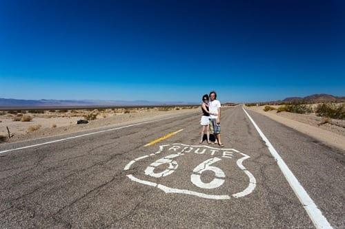 Couple Route 66 California