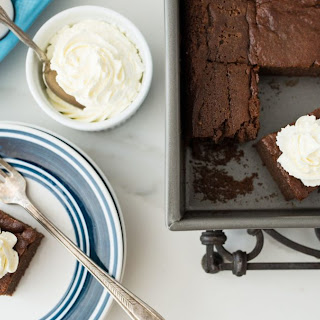 Keto Brownies with Whipped Cream Recipe