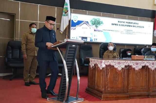 Rapat Paripurna, 28 Raperda Telah Dibahas DPRD Balangan