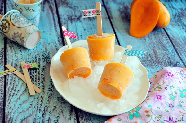 How to Make Mango Yogurt Popsicles (3 ingredients) 芒果酸乳酪冰棒  http://uTry.it