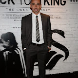WWW.ENTSIMAGES.COM -  Leon  Britton  arriving    at      THE UK PREMIERE OF (JACK TO A KING) THE SWANSEA STORY at EMPIRE, LEICESTER SQUARE London September 12th 2014.The movie of Swansea City's rise from near extinction to the top of the Premier League                                                 Photo Mobis Photos/OIC 0203 174 1069