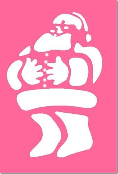 stencil-con-babbo-natale
