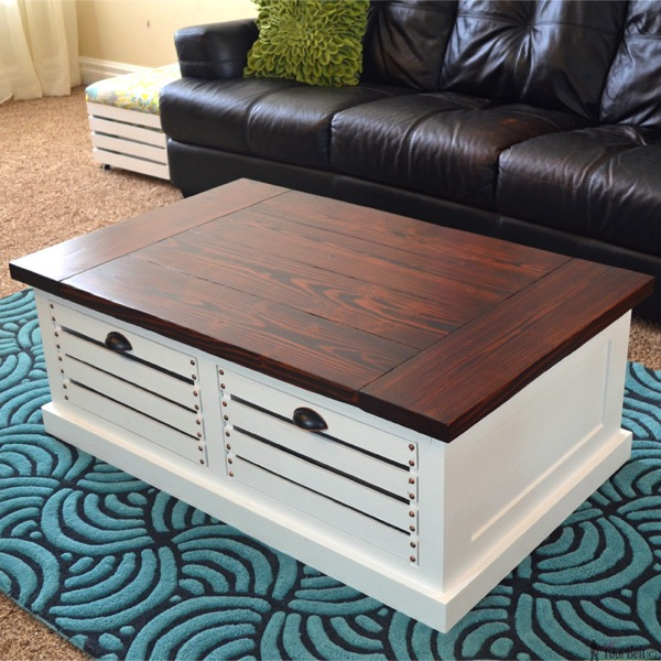 Crate storage coffee table hertoolbelt