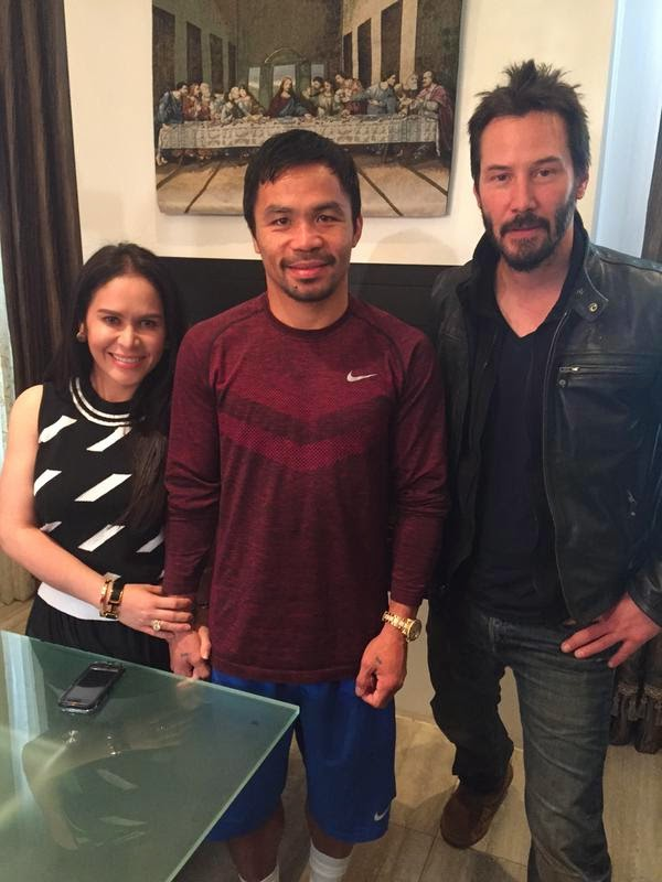 Jinkee Pacquiao Shares Photos with Keanu Reeves