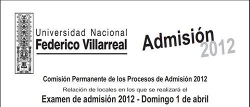 Aulas Locales Examen admision UNFV 2012