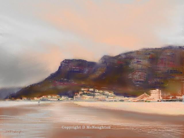 Sunrise beach. ipad. Artist Dianne McNaughton