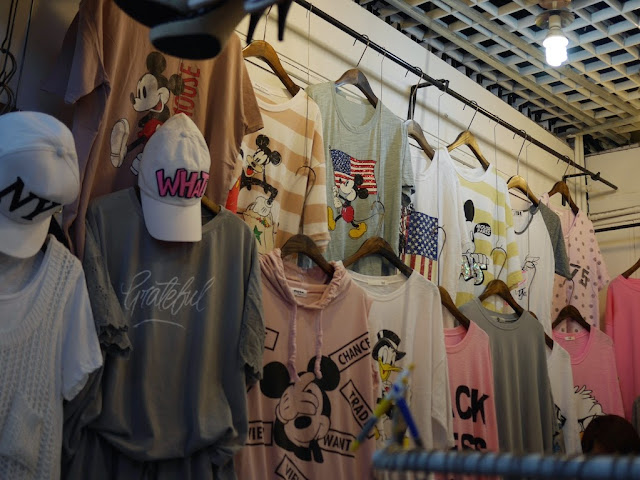Mickey Mouse with American flag shirt for sale at Shiji Tianle in Beijing