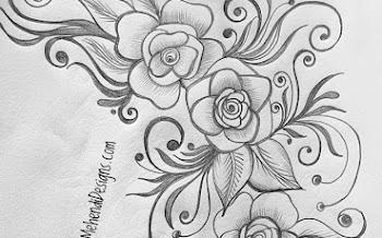 Corner Flower Tattoo Design