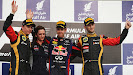 2013 Bahrain F1 GP podium: 1. Vettel 2. Raikkonen 3. Grosjean