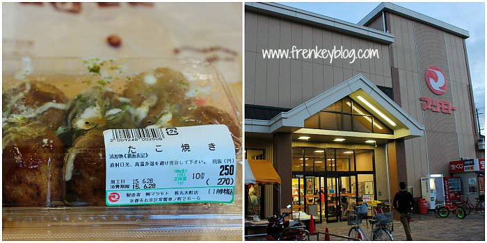Takoyaki isi 10, 270 Yen - Supermarket dekat Toei Kyoto Studio Park