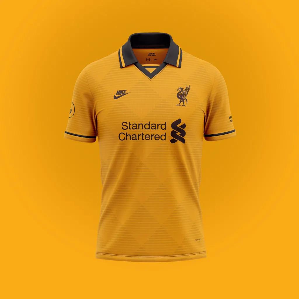 gambar terbaru Desain konsep jersey liverpool ketiga untuk menandingin jersey Liverpool dari Nike