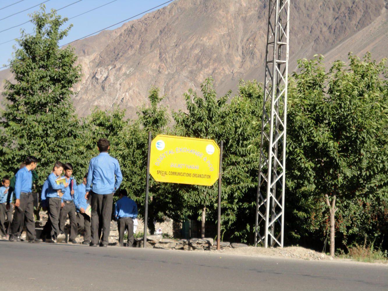 Boys were going to school early morning in Gulmit, Nagar