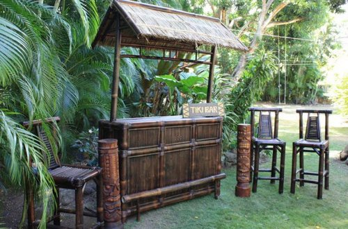 Precious Bamboo Patio Furniture Tropical Style - Hometary: Tiki Outdoor Furniture