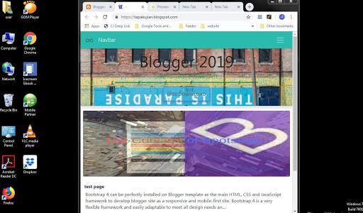 Bootstrap 4 Jumbotron Header For Blogger Blog