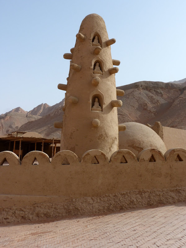 XINJIANG.  Turpan. Ancient city of Jiaohe, Flaming Mountains, Karez, Bezelik Thousand Budda caves - P1270967.JPG