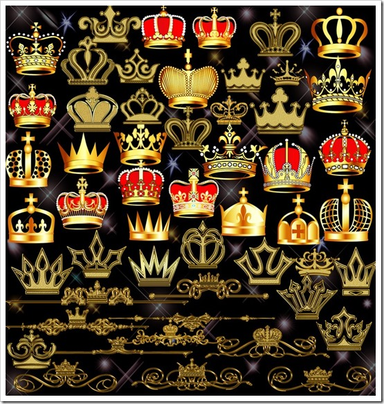 Crown Kingly Design Clipart