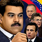 Venezuela Political Fighting Icon