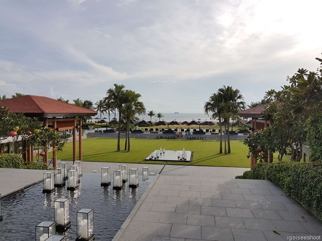 View from the lobby of the Angsana Lang Co resort.