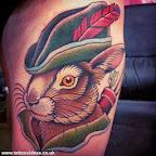 Rabbit Robin Hood - tattoo designs