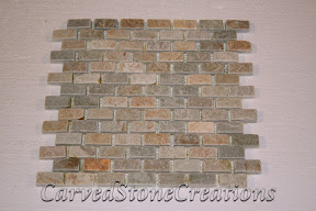 Brick, Flooring, Flooring & Mosaics, Interior, Mosaic, Natural, Pattern, Serengeti Gold, Stone, Tile, Tumbled