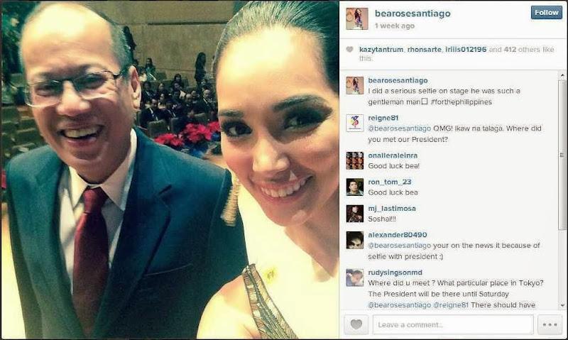 Selfie President Benigno Aquino III dan Bea Rose Santiago