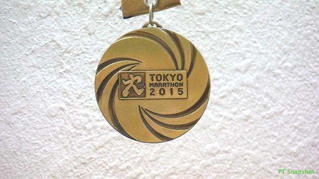 2015东京马拉松奖牌正面