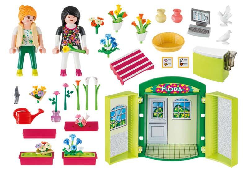 Contenido real de Playmobil® 5639 Cofre Tienda de Flores