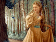 Princess In Magic Shining Forest