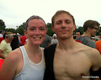 Better post-race pic of us. I'm smiling like a dork because I was stoked about my time!