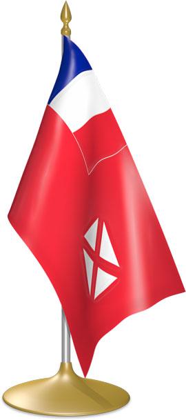 Wallis and Futuna table flags - desk flags