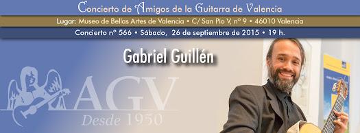 Concierto de Gabriel Guillén, en Amigos de la Guitarra de Valencia