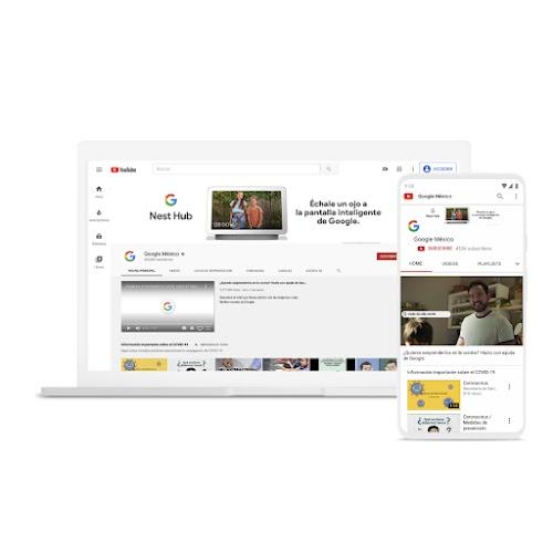 Una laptop y un teléfono usan YouTube