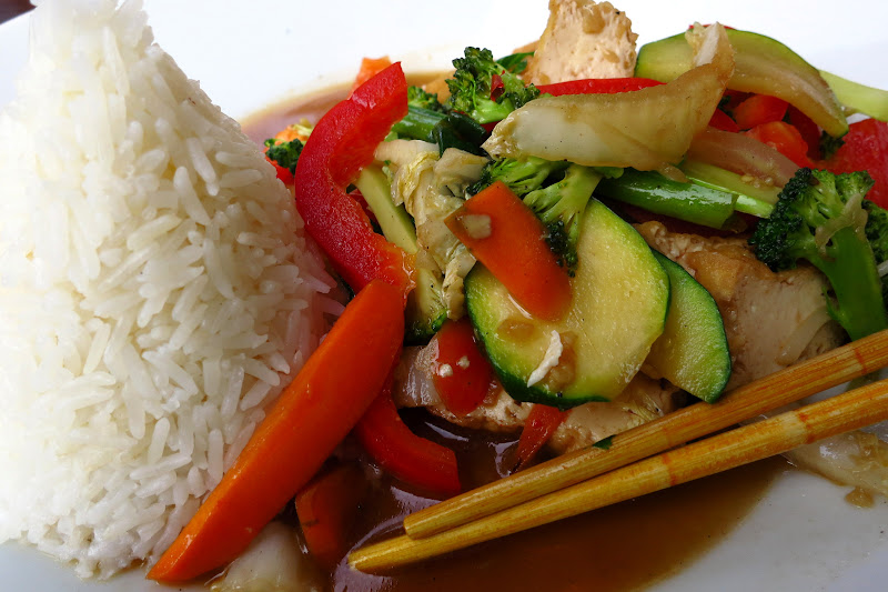 Tofu and veg