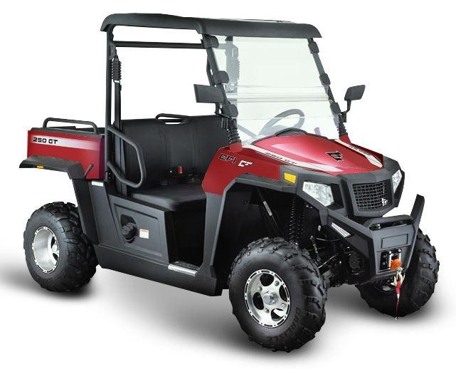 250cc 2x4 GT Hisun Farm Utility Vehicle UTV Side By Side Ute - Red