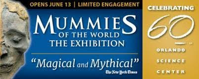Blockbuster Mummies Exhibit at Orlando Science Center