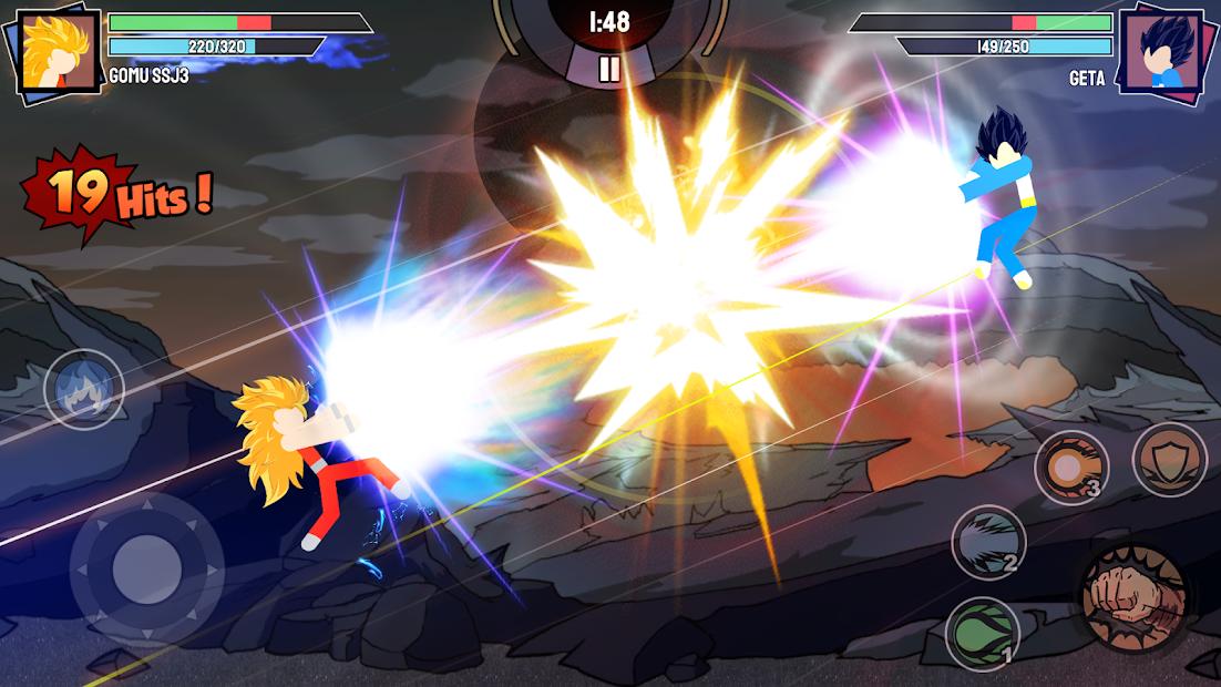 Stickman Warriors - Super Dragon Shadow Fight Android App Screenshot