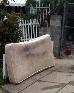 Abandoned mattress in Echo Park