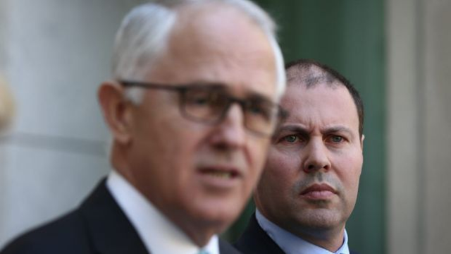 After axing the Australia government's Green Army program, Prime Minister Malcolm Turnbull cops the damage even though Environment and Energy Minister Josh Frydenberg takes the blame. Photo: Alex Ellinghausen