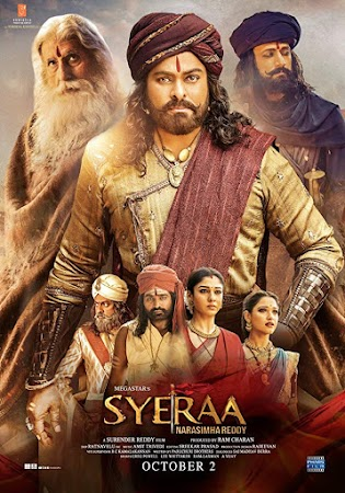 Poster Of Bollywood Movie Sye Raa Narasimha Reddy 2019 300MB Pdvd Full Hindi Movie