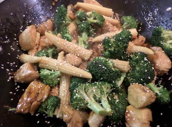 Teriyaki Chicken Stir Fry W/ Broccoli & Baby Corn