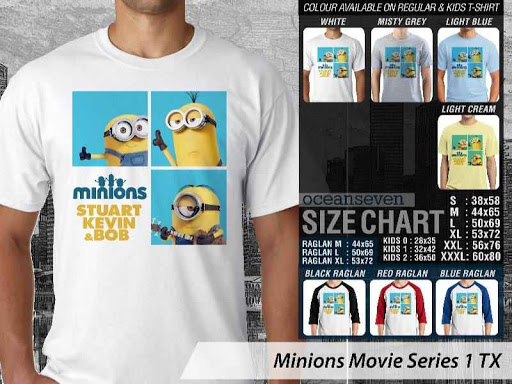 Kaos Kartun Minions Movie Series 1 distro ocean seven