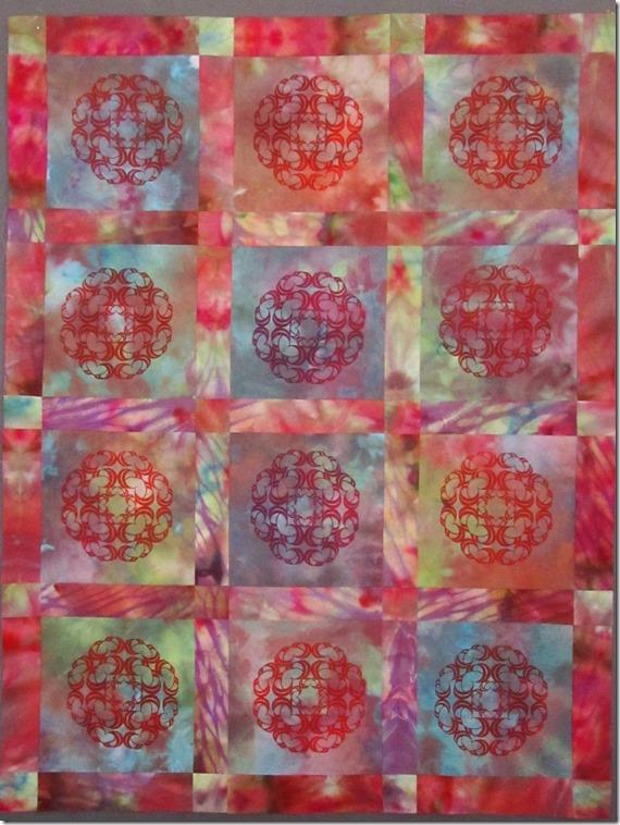 walgreenssilk screen heart quilt