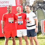 OIC - ENTSIMAGES.COM - Clarke Carlise, Danny Mills and Gary Rowett at the  Virgin Money London Marathon on Blackheath in London, England. 24th April 2016 Photo Mobis Photos/OIC 0203 174 1069
