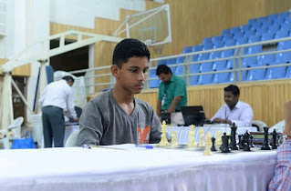 Ritviz Paran 12th position online chess tournament