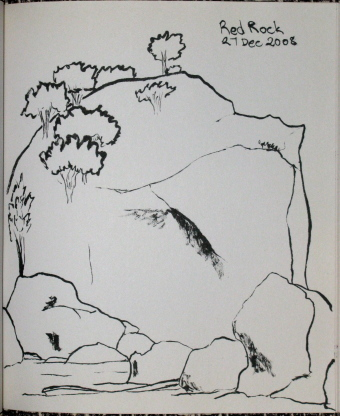 sketch of the rocks