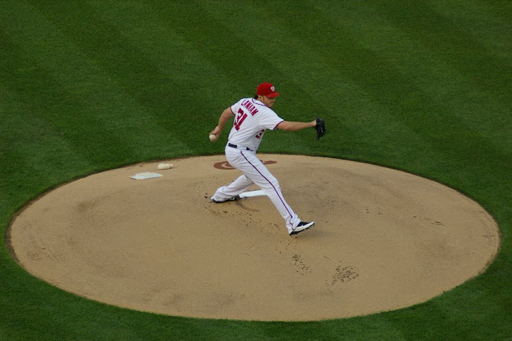 Lannan on the mound