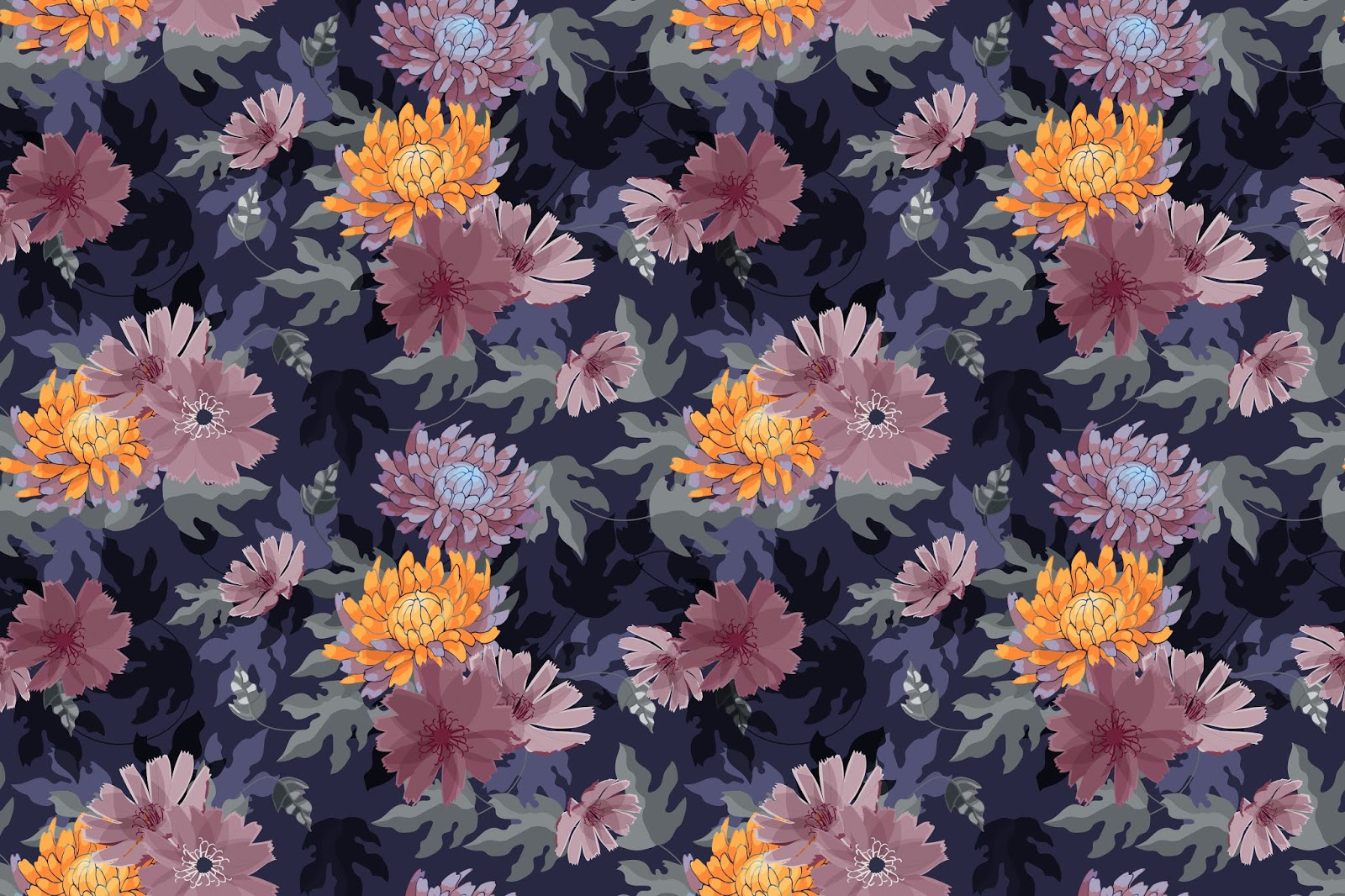 Art Floral Vector Seamless Pattern Free Download Vector CDR, AI, EPS and PNG Formats