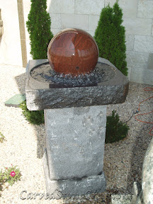 carved stone fountain, estate fountain, Exterior, Floating Sphere, floating sphere fountain, Fountains, garden fountain, garden fountains, granite fountain, outdoor fountains, stone fountain, stone garden fountain