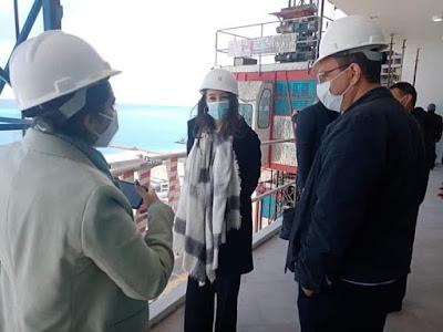 القنصل الفرنسي بالإسكندرية يتفقد مشروعات مدينة العلمين الجديدة